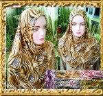 Grosir Jilbab Motif  Leopard