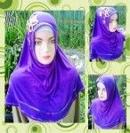 Grosir Jilbab Syiria Jersey Bunga