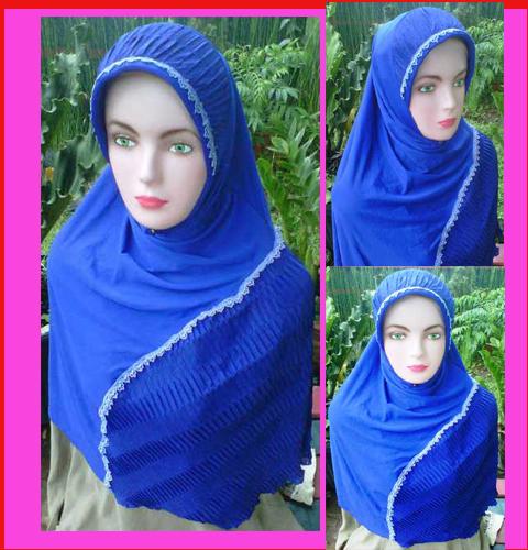 Grosir kerudung Jilbab marwah ,bahan jersey kombinasi prisket, 40,35,33