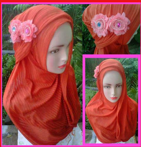 Grosir Jilbab fatin salur bunga delima ,27,23,21,400rb