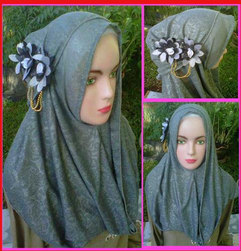 Grosir Jilbab Fatin Paloma bunga dua, 30, 25, 23, 420, bahan paloma motif