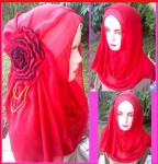 Grosir Jilbab Fatin Big Flower