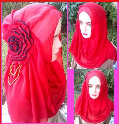 grosir jilbab fatin big flower,35,28,25,450rb,ceruty