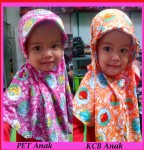 Grosir Jilbab Anak KCB dan PET (1 – 3 tahun)