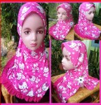 Grosir Jilbab Anak 2 – 4 th Hello Kitty