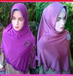 Grosir Jilbab Jersey  Bunga Biku