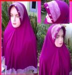 Grosir Jilbab Jersey Jumbo Renda