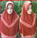 Grosir Jilbab Dela Renda Tengah