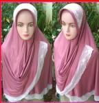 Grosir Jilbab Dela Renda Selendang