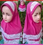Grosir Jilbab Anak Bergo Renda (3-5 th)