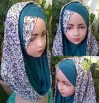 Grosir Jilbab Anak Hoddie Silang Bunga (1-3 th)
