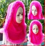 Grosir Jilbab Anak Hoddie Bulu