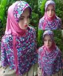 Grosir Jilbab Jersey Motif Bunga
