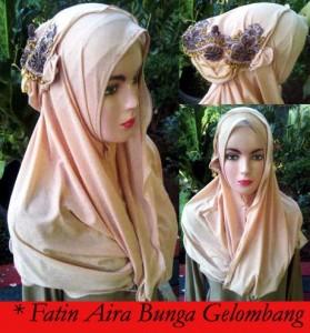 Grosir Jilbab Fatin Aira Bunga Gelombang