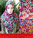 Grosir Hijab Paris Sofia Bunga Besar