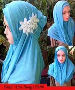 Grosir Jilbab Fatin Aira Bunga Putih