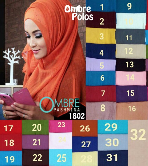 Pashmina Ombre Polos update 1802 sg hijab
