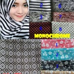 Pashmina Monochrome Mix Motif copy