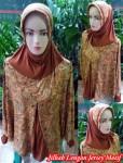 Jilbab Lengan Jersey Motif