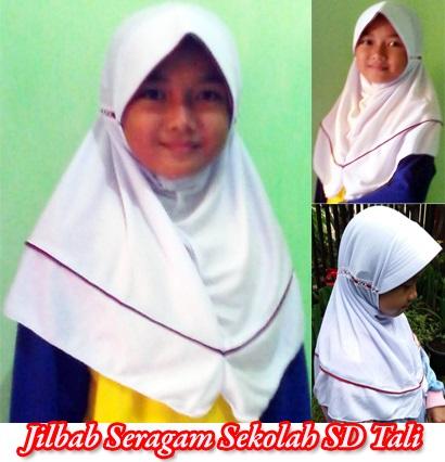 Jilbab Seragam Sekolah SD merah putih SG Jilbab