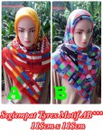 Grosir Hijab Segi Empat Tierack Motif AB