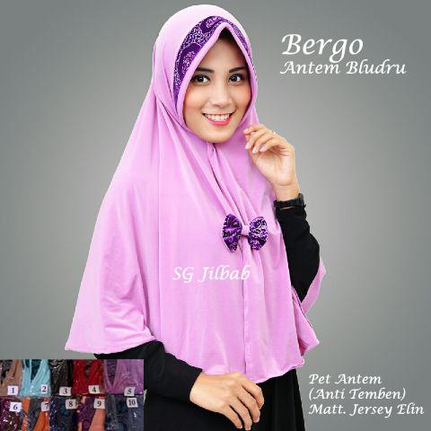 Bergo Antem Bludru SG jilbab