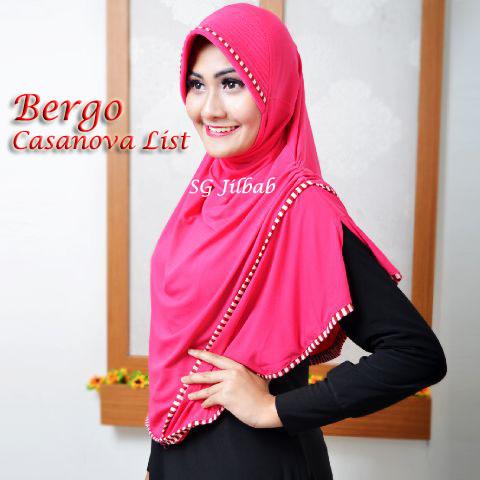 Bergo Casanova List SG Jilbab