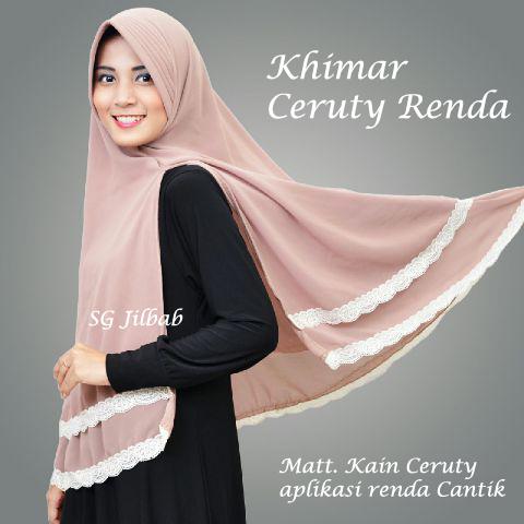 Khimar Ceruty Renda sg jilbab