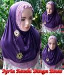 Jilbab Syria Bunga Emas