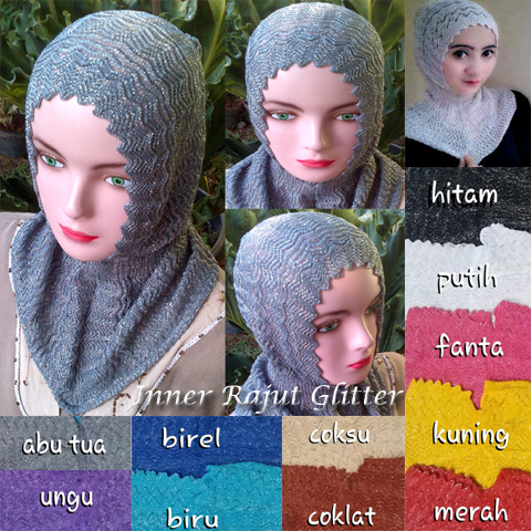 Inner rajut Glitter 14 16 25 220 SG jilbab