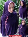 Jilbab Bergo List Kancing