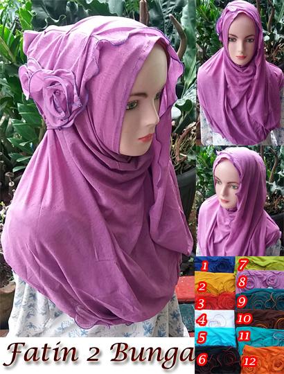 Jilbab Fatin 2 Bunga seri SG jilbab 19 22 30 330