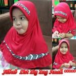 Jilbab List ZigZag Anak