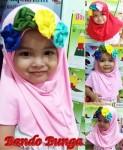 Jilbab Anak Bando Bunga