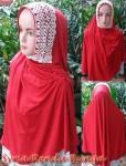 Jilbab Syria Renda Bunga