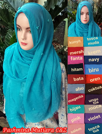 Seri Pashmina Mutiara C&Z SG Jilbab 29 32 40 530. 75cmx195cm