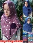 Jilbab Bergo Bunga Denim