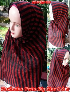Pashmina Pesta Big Line