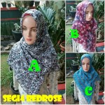 Segi Empat Red Ross Motif, 16 19 25 270