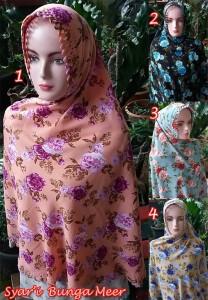 Hijab Syar'i Bunga Meer