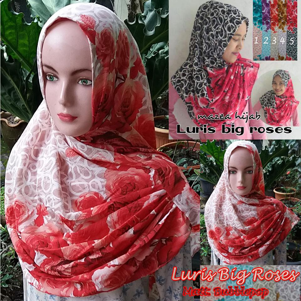 Luris Big Roses SG Jilbab
