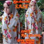 Kerudung Sale Grey Bloom