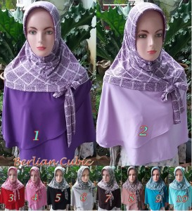 Hijab Berlian Cubic