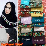 Hijab SegiEmpat Tassel