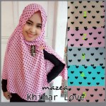 Kerudung Khimar Love