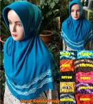 Hijab Serut Renda Press