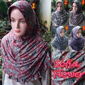 Jilbab Sofia Flower