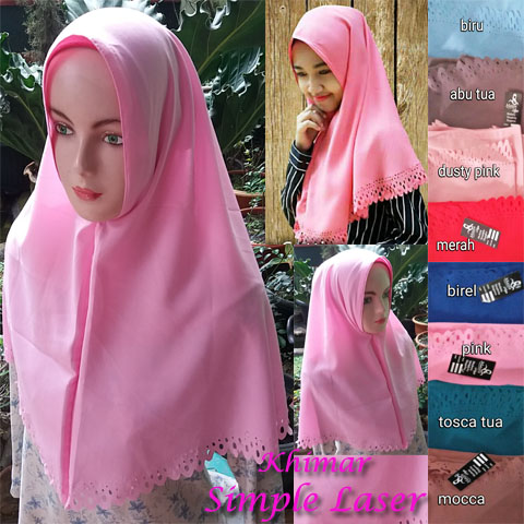 Khimar Simple Laser SG Jilbab