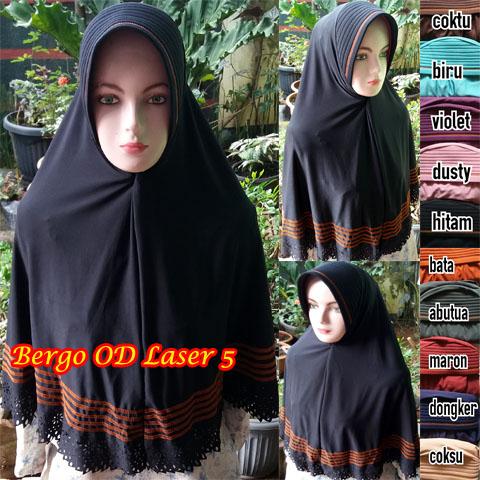 Bergo OD Laser 5 28 31 40 510 SG Jilbab copy