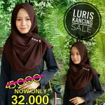 SALE STOCK Jilbab Luris Kancing